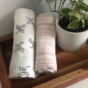 4 💝 for $25! Aden + Anais Baby Swaddle Blankets